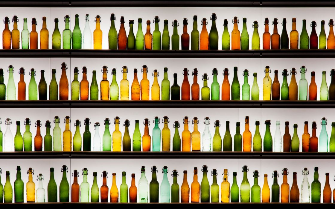 Empty bottles wallpaper