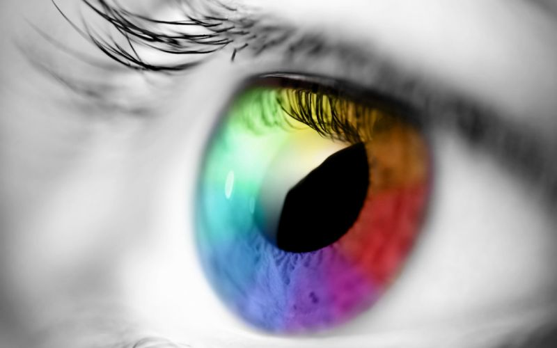 Rainbow eye wallpaper