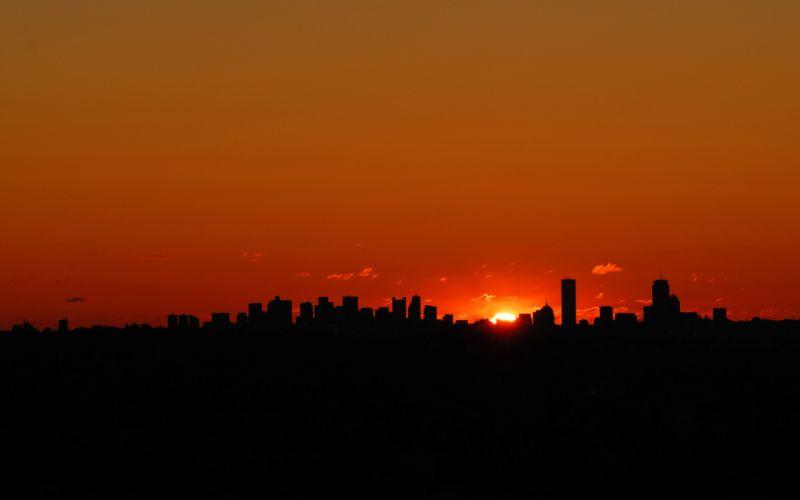 Boston sunrise wallpaper