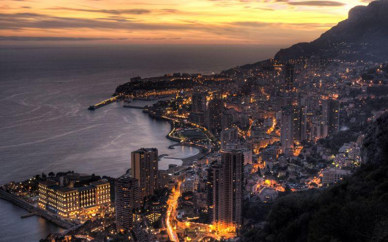 Monaco coast wallpaper