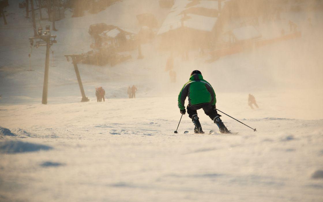 Ski man wallpaper