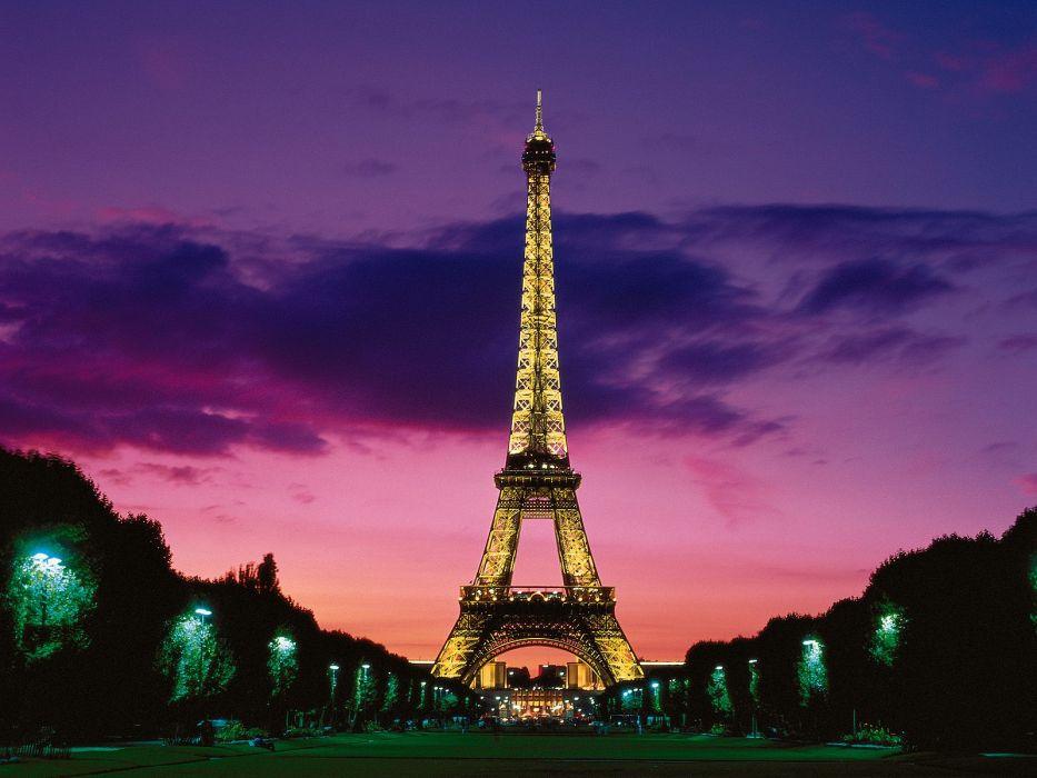 Romantic eiffel tower wallpaper