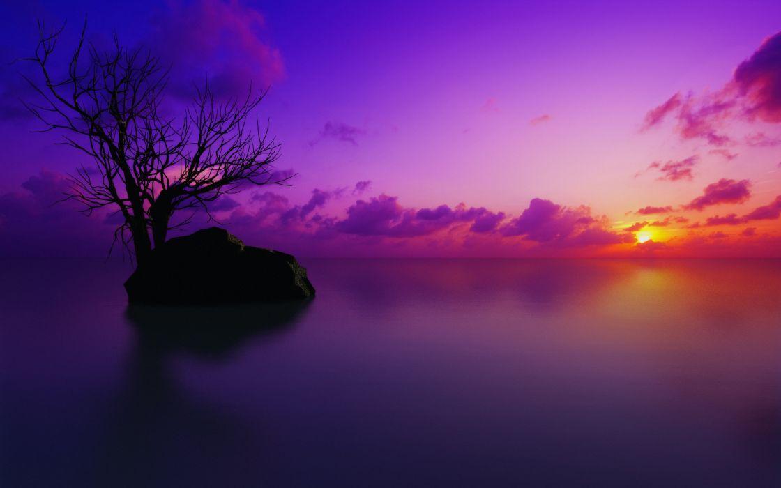 Maldivian sunset wallpaper