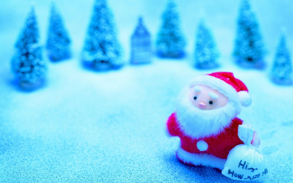 Santa claus toy wallpaper
