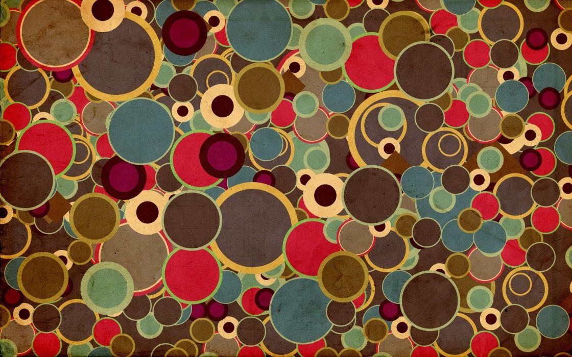 Warm color circles wallpaper