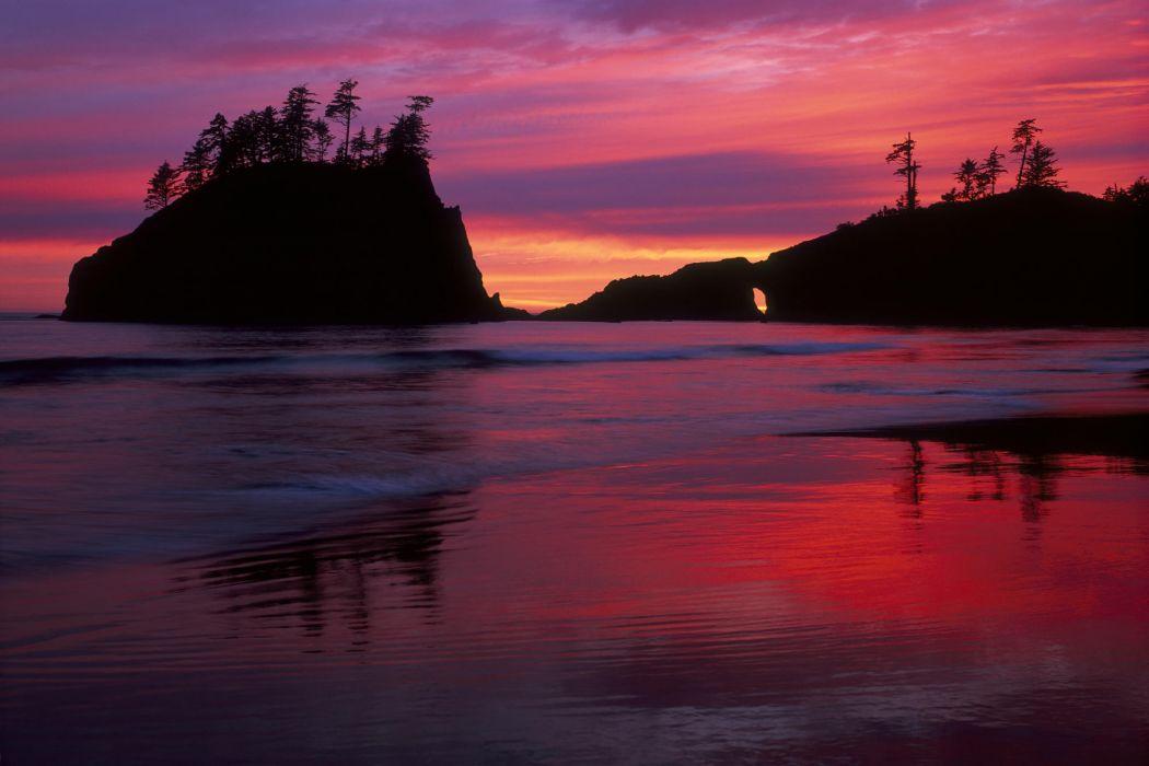 Sunset beach wallpaper