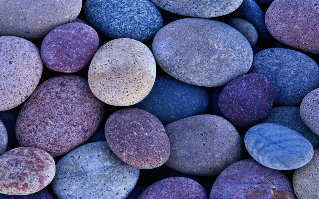 Blue stones wallpaper