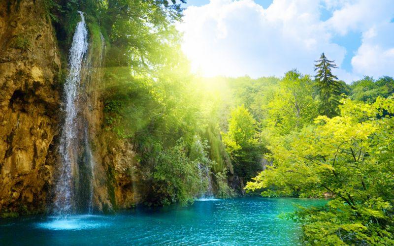 Dream waterfall wallpaper