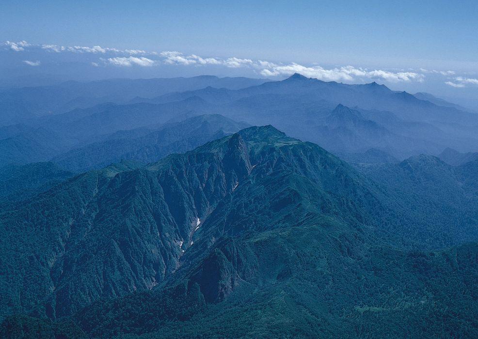 Azure mountains wallpaper