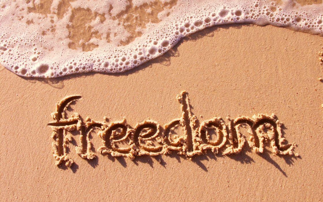 Freedom beach wallpaper
