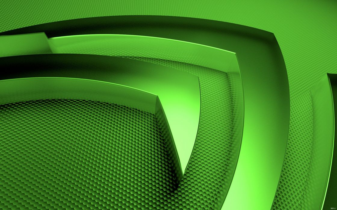 Nvidia macro logo wallpaper
