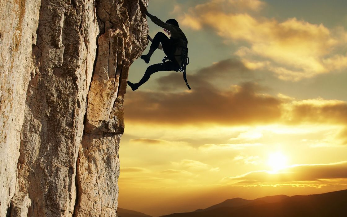Extreme climbing wallpaper