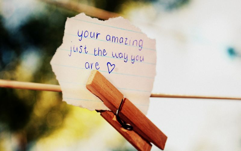 Just the way you are wallpaper