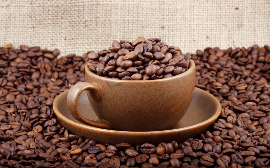 Pure coffee cup wallpaper