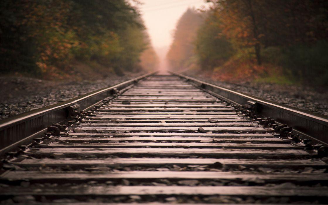 Railway track wallpaper