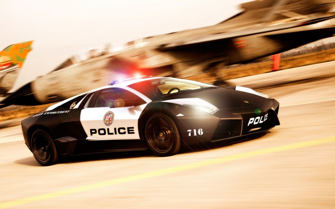 Lamborghini police car wallpaper