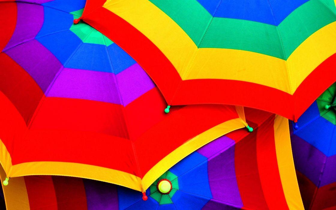Coloured umbrellas wallpaper