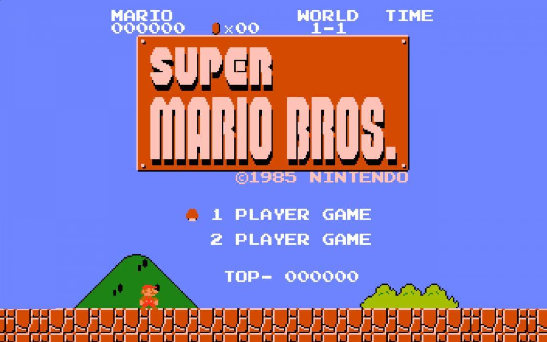 Super Mario Bros 8-bit wallpaper
