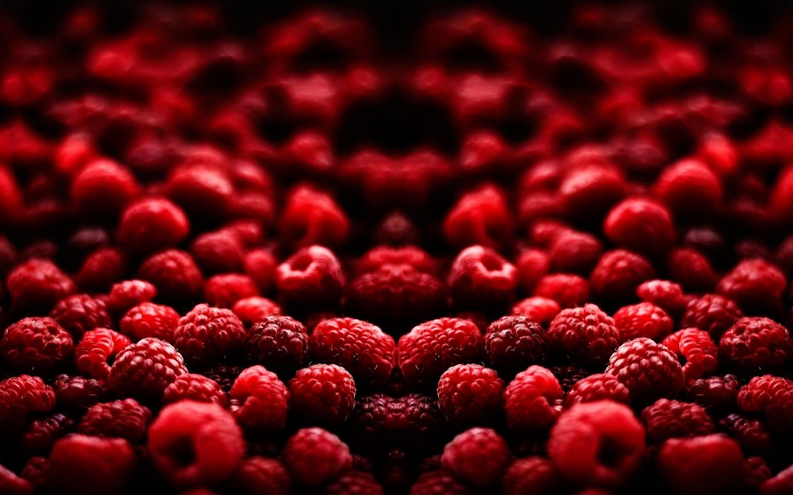Valley of raspberries wallpaper