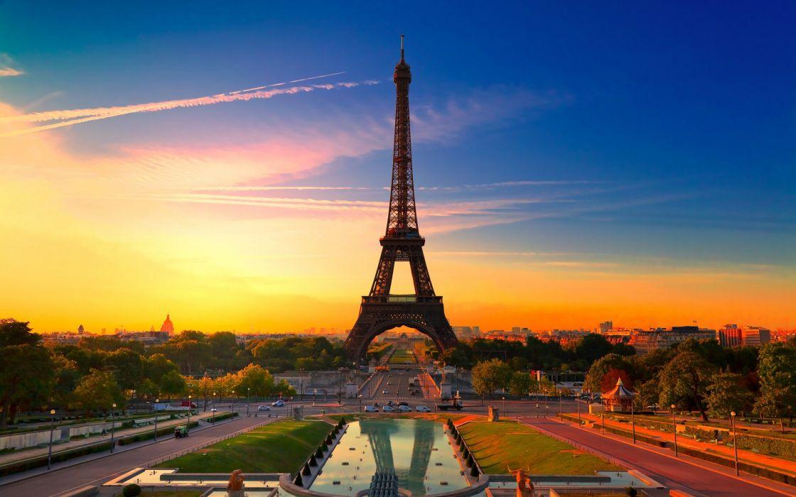 Eiffel tower landscape wallpaper