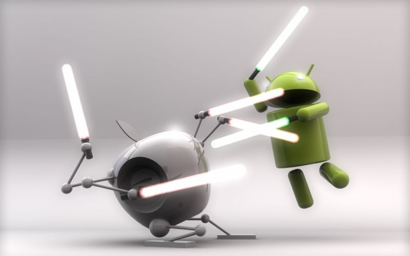 Apple vs android wallpaper