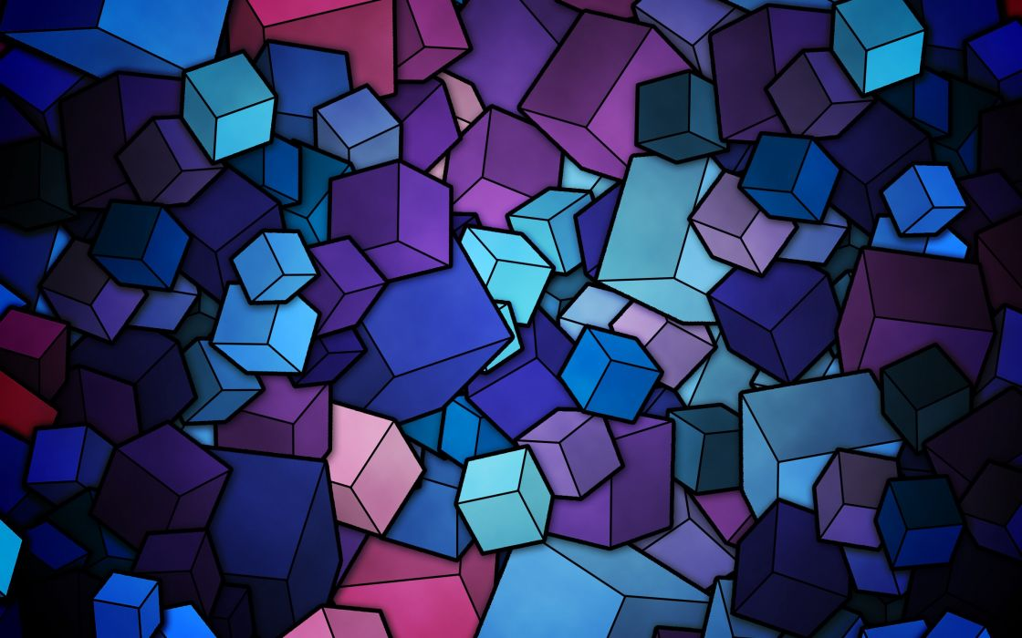 Cubes vector wallpaper