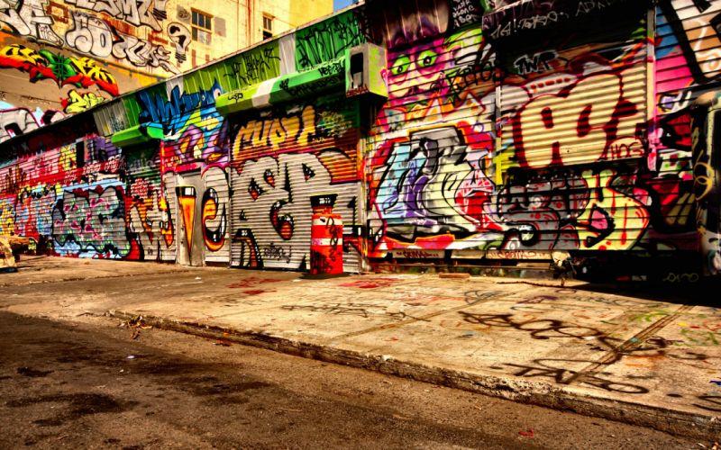 Graffiti wall wallpaper