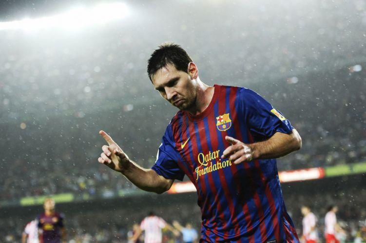 Lionel Messi at Barcelona wallpaper