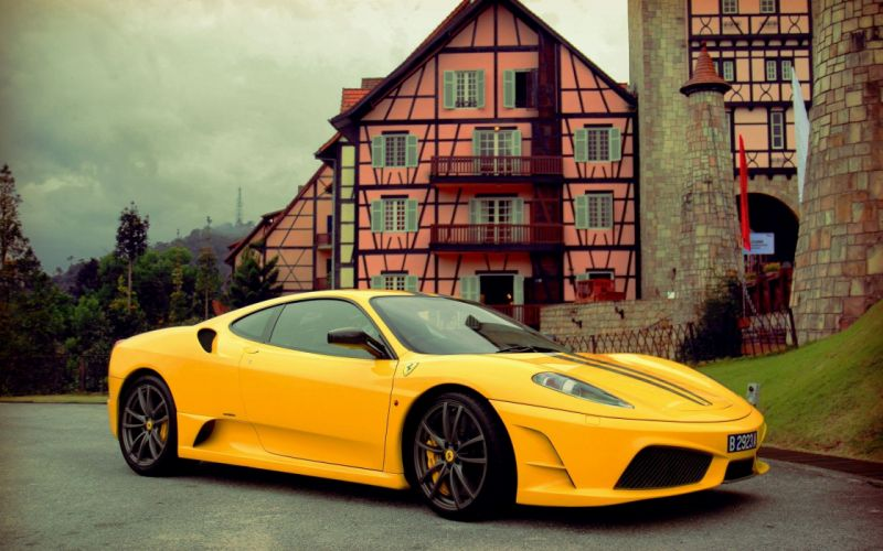 Yellow Ferrari F430 wallpaper