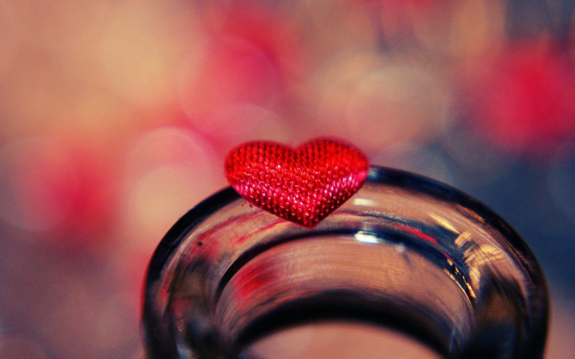 Sweet heart on glass wallpaper