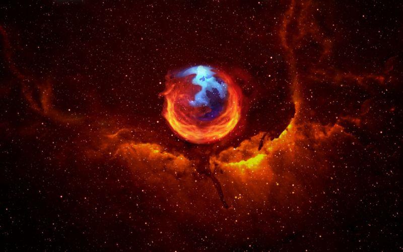 Firefox galaxy wallpaper