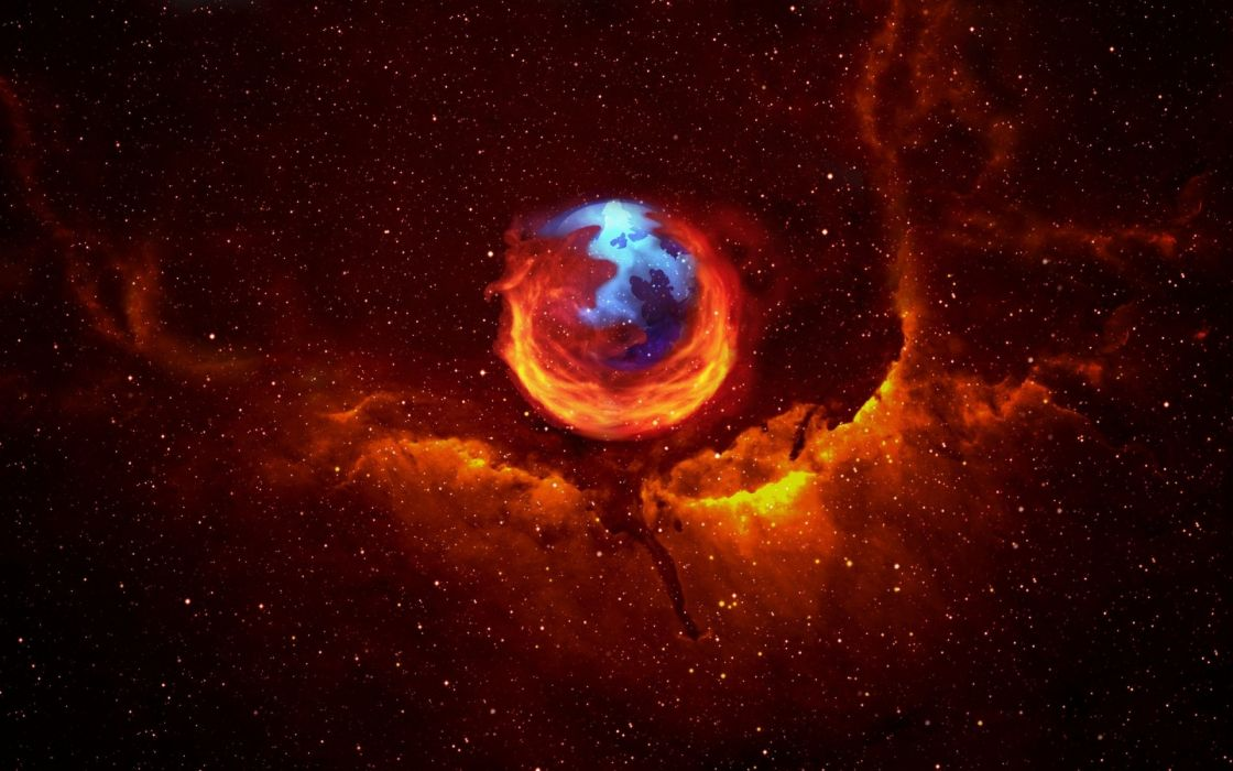 Firefox galaxy wallpaper