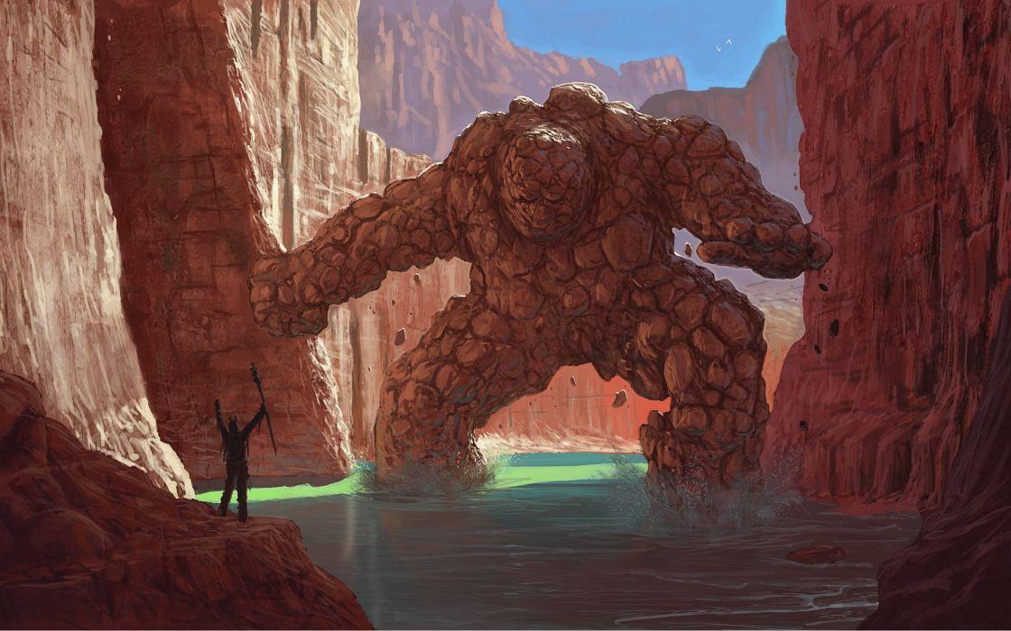 Rock monster wallpaper