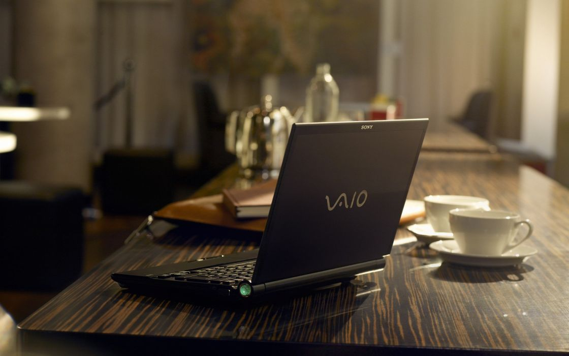 Sony Vaio on the table wallpaper
