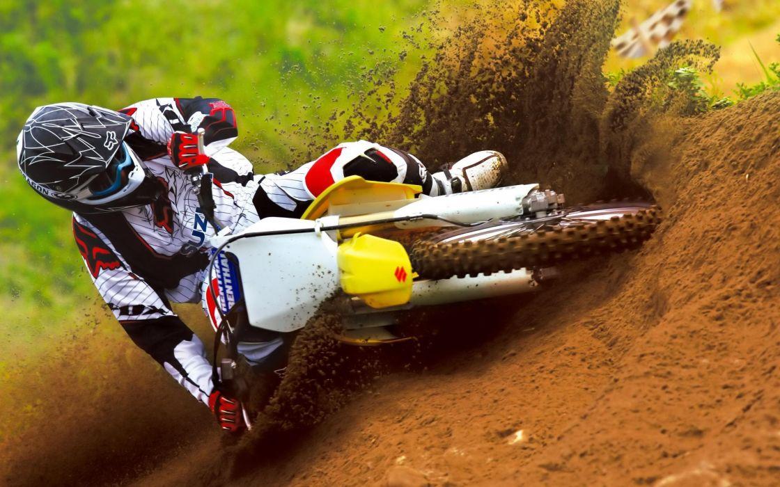 Race in motocross wallpaper