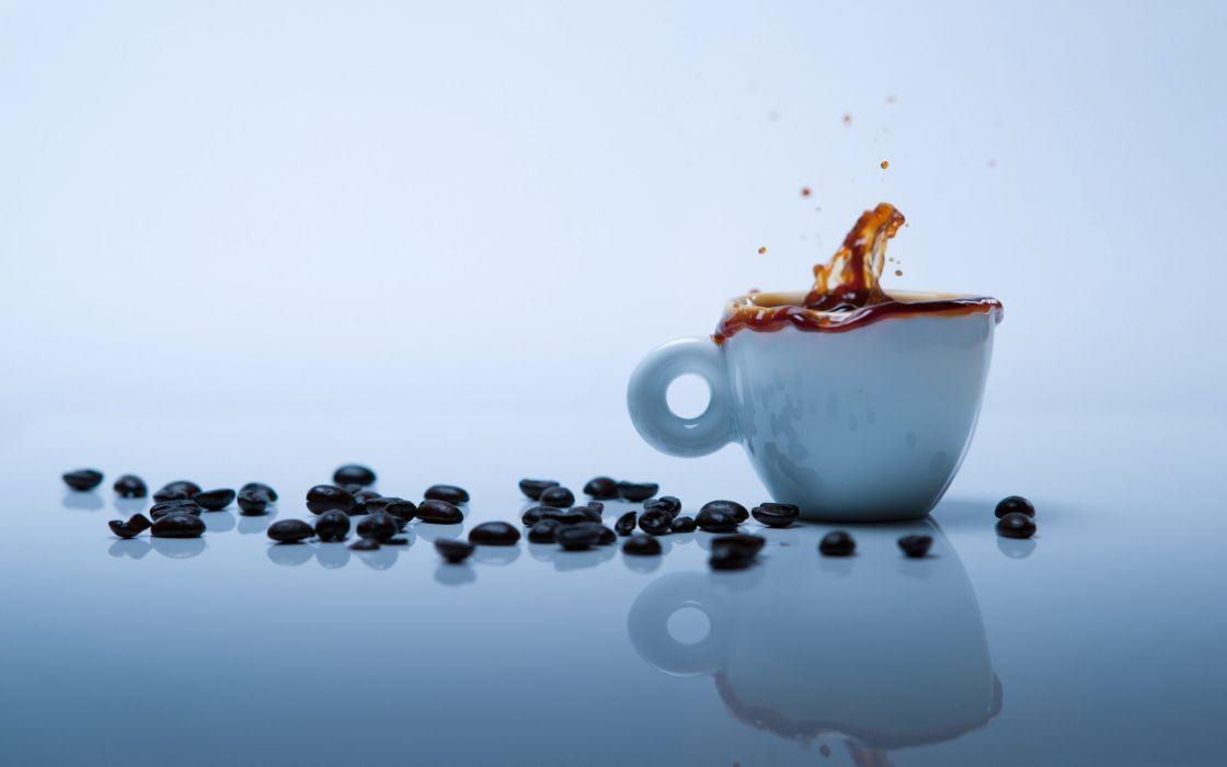 Coffee splash wallpaper