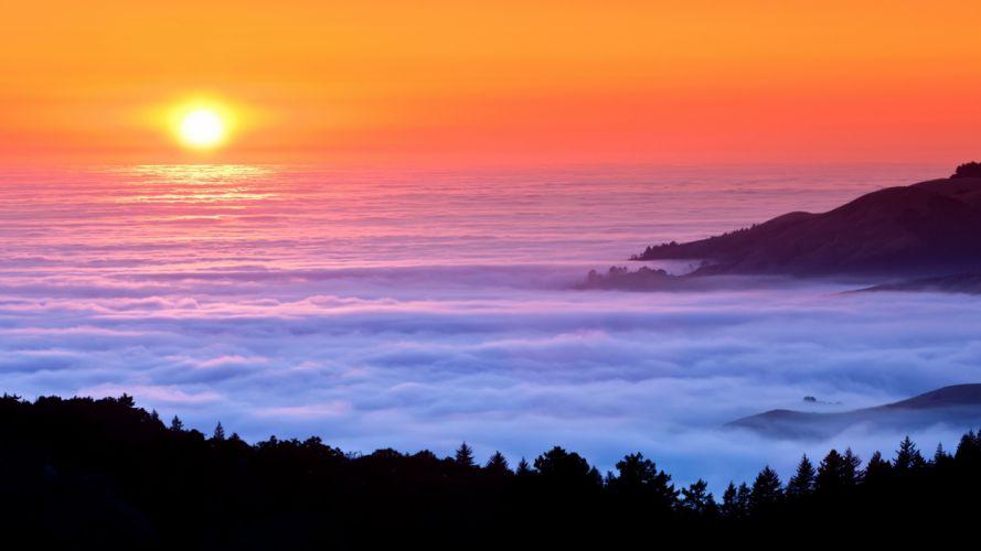 Sea of fog wallpaper