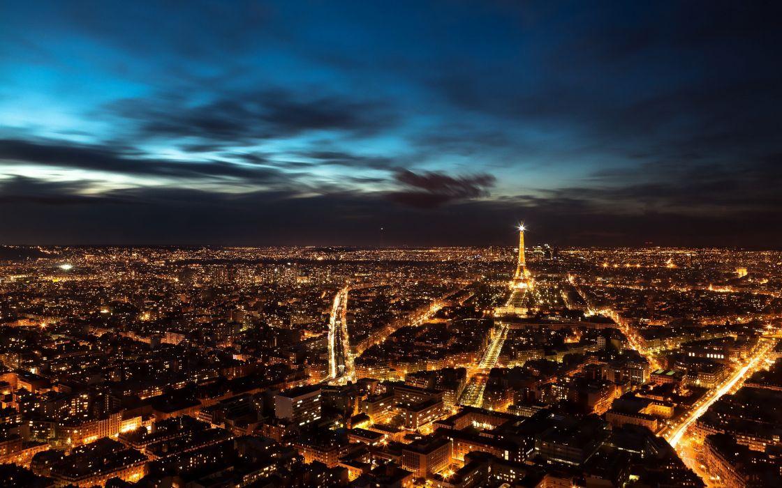 Paris city lights wallpaper
