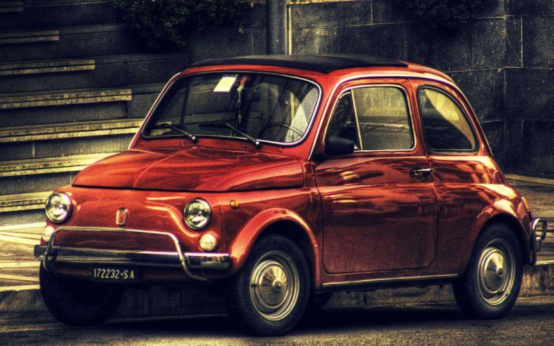 Vintage Fiat 500 wallpaper