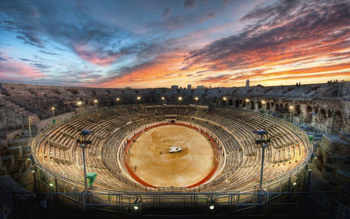 Roman gladiator arena HDR wallpaper