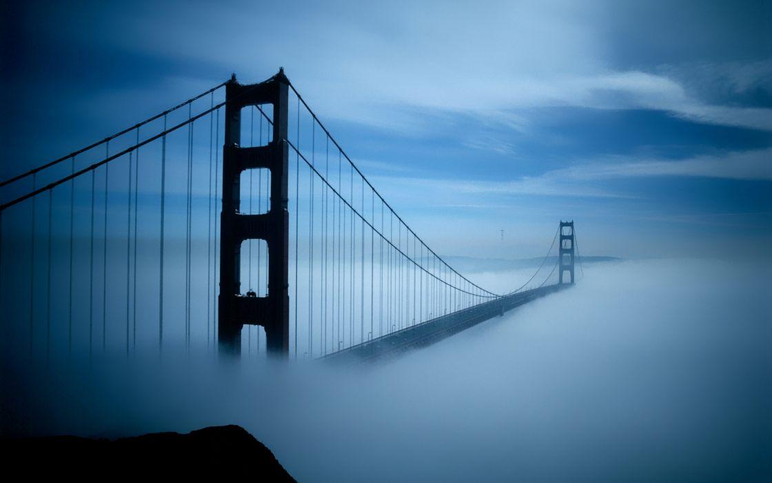 Golden Gate bridge fog wallpaper