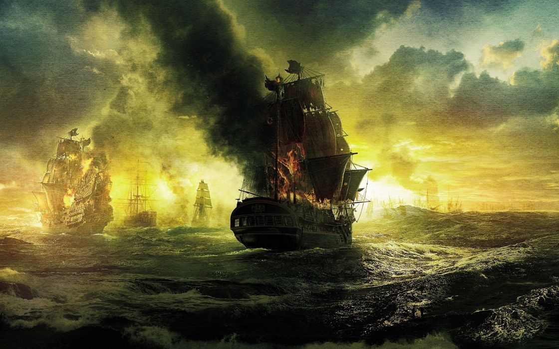 Pirates of the Caribbean poster wallpaper