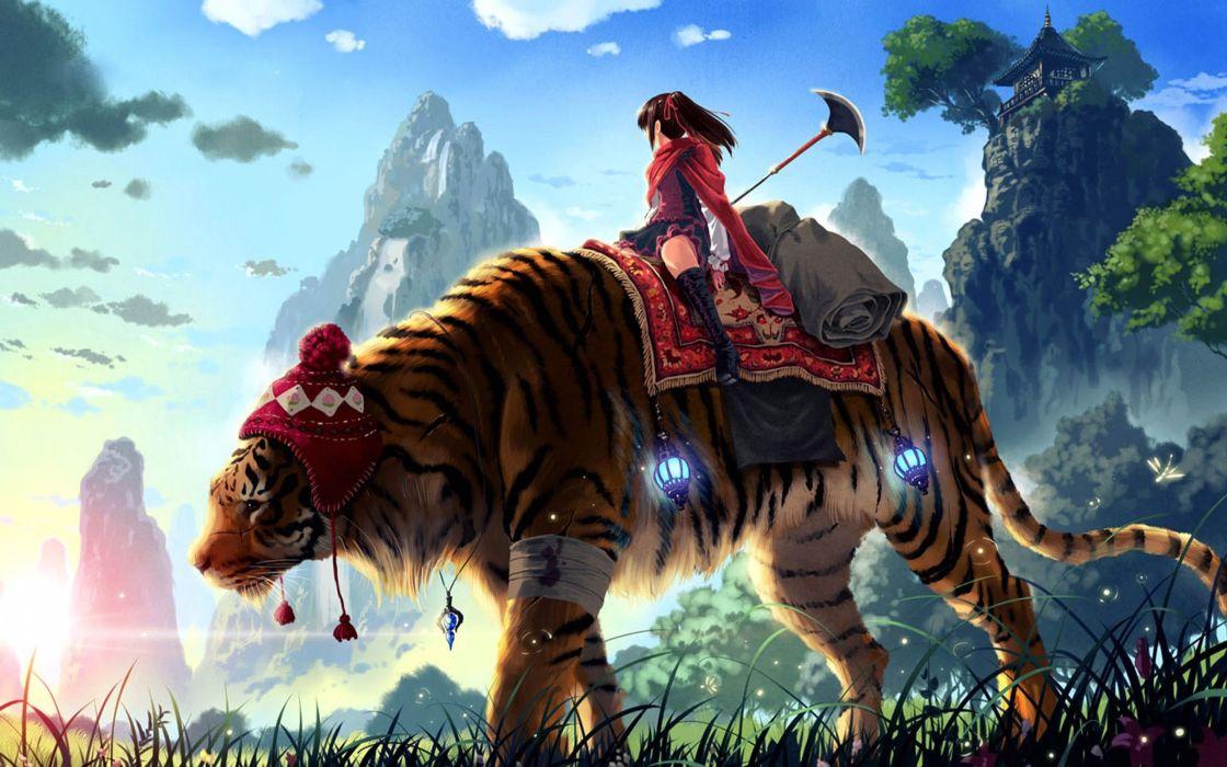 Tiger ride wallpaper