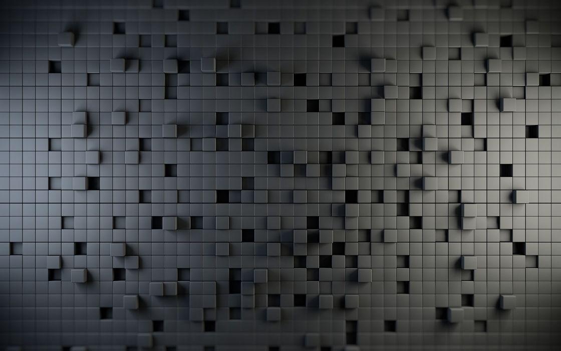 Cubed wall wallpaper