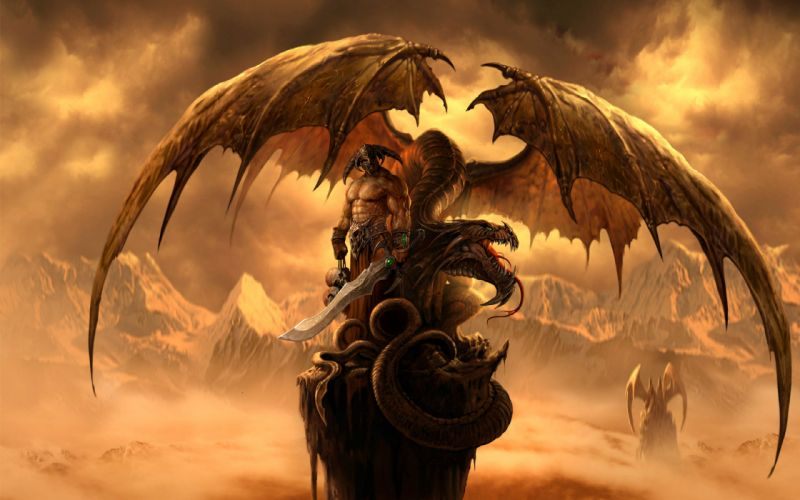 Huge dragon - fantasy wallpaper