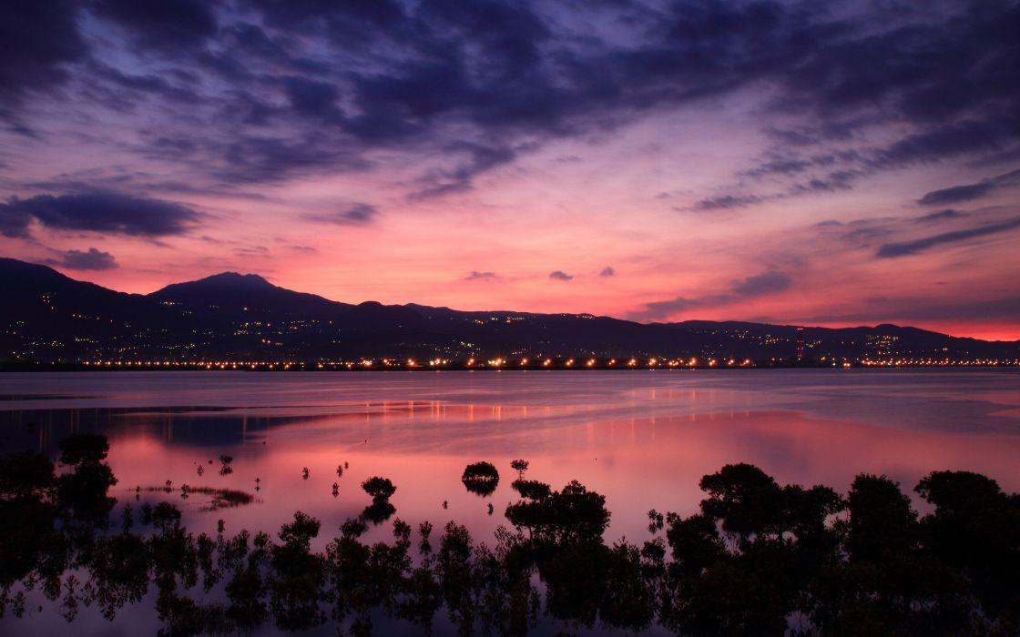 Half Moon bay sunset wallpaper