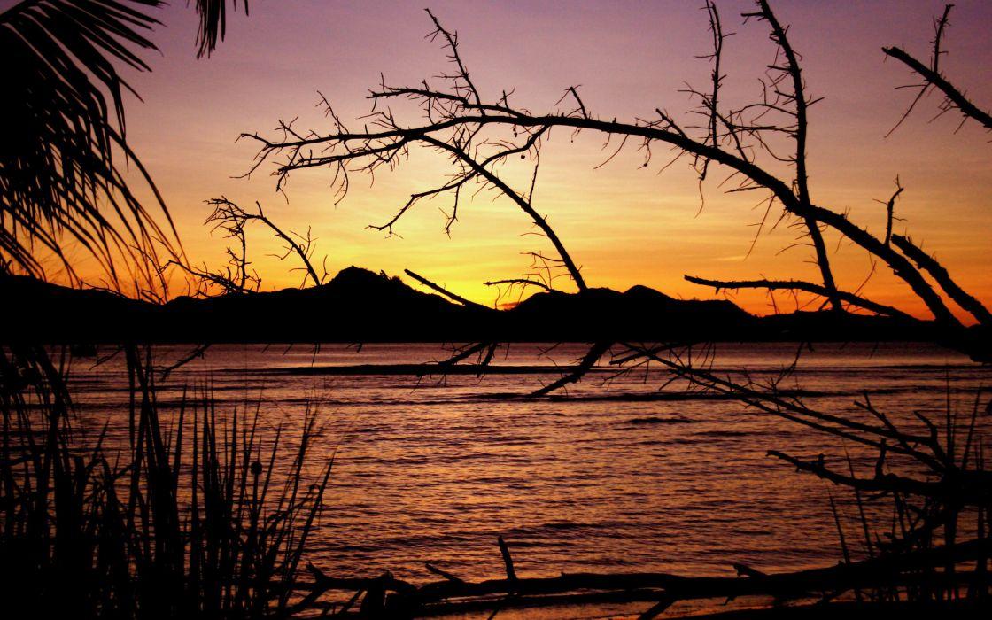 Seychelles sunset wallpaper