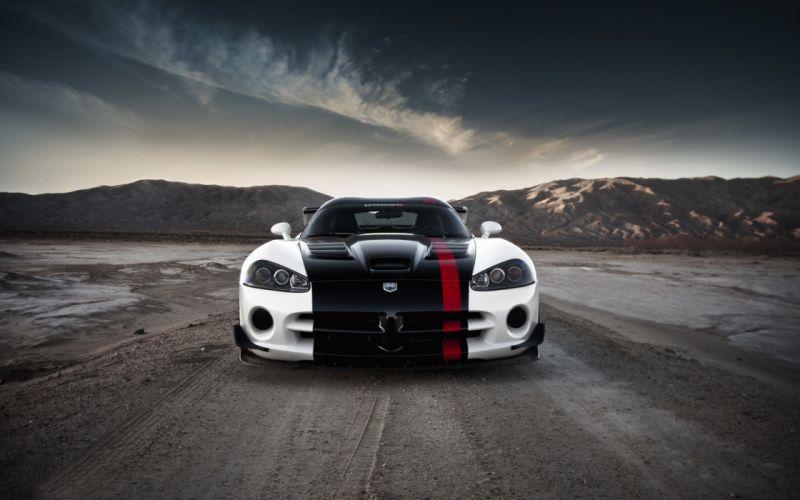 White Dodge Viper wallpaper