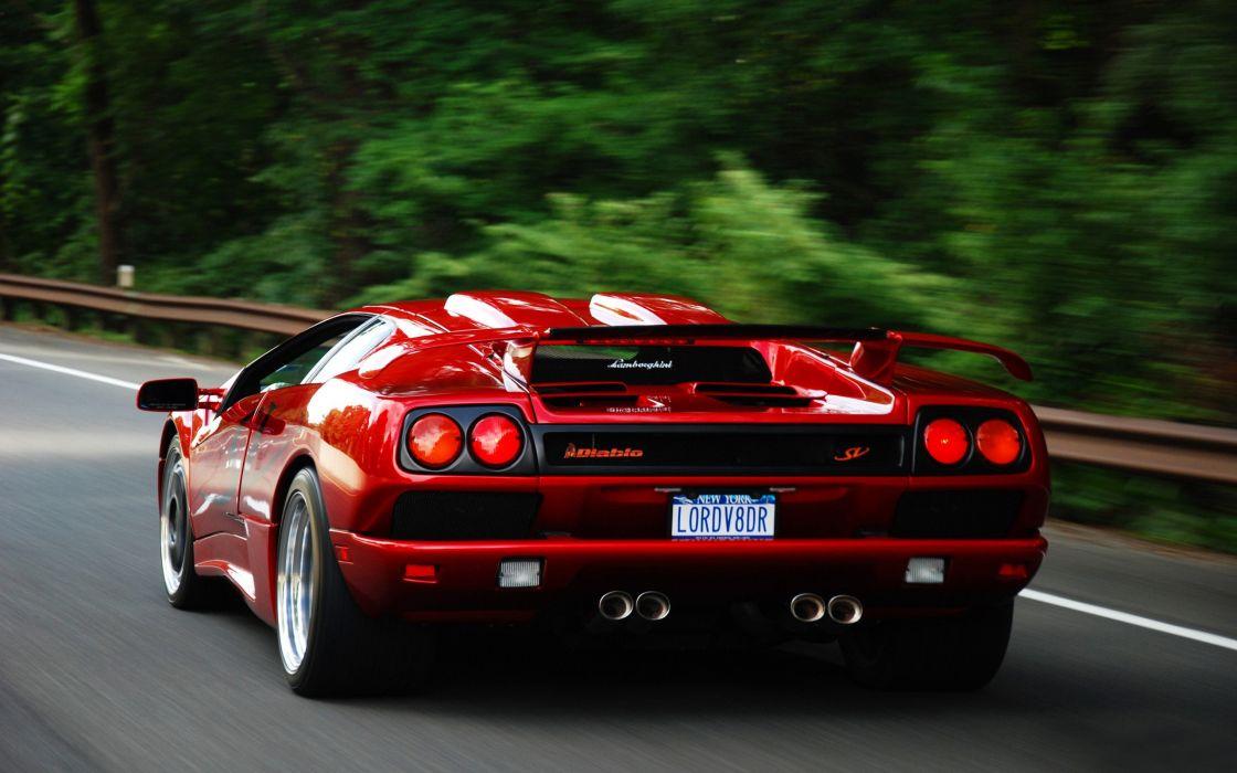 Red Lamborghini Diablo wallpaper