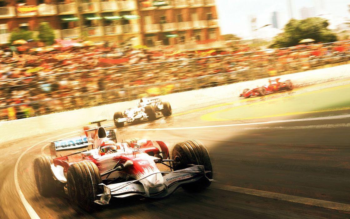 Speed of a Formula 1 car wallpaper